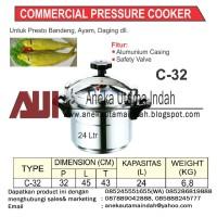 GETRA C-32 Commercial Pressure Cooker Panci Presto Komersial 24 Liter