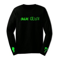 Kaos Billie Eilish With Logo & Snake Long Sleeve