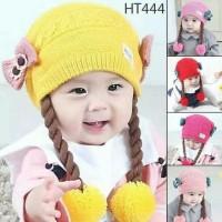 TERBARU Topi kupluk rajut anak perempuan import model lucu / topi anak