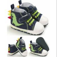 [ NEW IMPORT ] Sepatu anak bayi lucu gambar dinosaurus / sepatu prewal