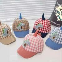 New Topi bayi / topi anak laki perempuan gambar dinosaurus