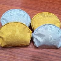 Souvenir Dompet Koin Resleting Emas / Mas & Perak - Gold & Silver