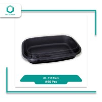 Virtuspack/ Mika / Tray Spaghetti / Lunch Box LB-118 Black/ 50pcs