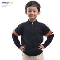 Sweater Rajut Anak Gomuda Kids Mockneck Zip - Navor