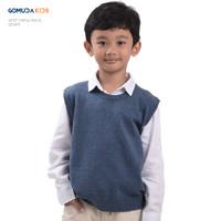 Sweater Rajut Anak Gomuda Kids Vest Crew Neck - Denim