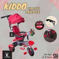 Sepeda Anak Roda Tiga Kiddo 203 Tricycle Bike