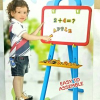 papan tulis anak/learning easel 3in1