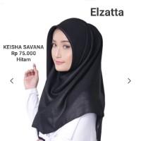 Hijab Jilbab Segi Empat KEISHA SAVANA Elzatta - HITAM