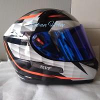 Helm KYT K2R diamond white visor custom iridium snail pnp