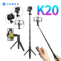 INBEX Selfie Stick Tongsis Mini Tripod Photograph Bluetooth Remote