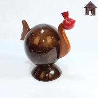 Kerajinan Batok Kelapa│Celengan Ayam Natural