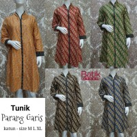 Dress Batik Tunik Parang Garis