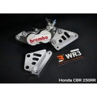 Breket Kaliper WR3 Depan Honda CBR 250 RR Non ABS With Brembo 4P1P