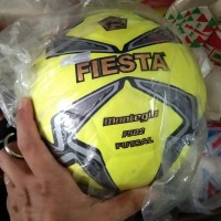 "Bola Futsal 4"" FIESTA ORIGINAL Empuk + free Pentil dan Jaring Bola - Kuning"