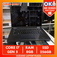 DELL E5250 TOUCHSCREEN CORE I7 8GB 256GB SSD LAPTOP BEKAS SECOND MURAH