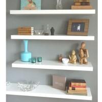Rak dinding Minimalis/Rak Ambalan/Floating Shelf/Multiplek PVC 4 Pcs