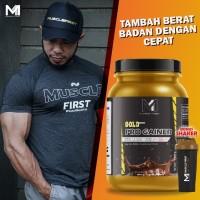MUSCLE FIRST GOLD PRO MASS GAINER 2lbs penambah berat badan halal BPOM
