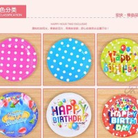 perlengkapan piring pesta ulangtahun Birthday Party (per pcs) hpa039