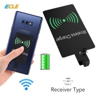 ECLE Qi Adaptor Universal Wireless Charging Receiver - Type C