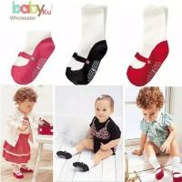 Kaos kaki bayi anak perempuan ada anti slip motif sepatu