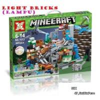 1013 Lego Minecraft My World The Mountain Light Bricks ( Lampu )