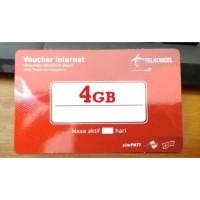 Voucher FISIK Telkomsel 4GB Paket Kuota Data Internet Pulsa Listrik