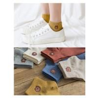KK017 Kaos Kaki Pendek Lovely Bear Wanita Low Socks
