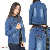 2 Pilihan Warna Jaket Jeans Wanita Non.Stretch Atasan Jeans Polos