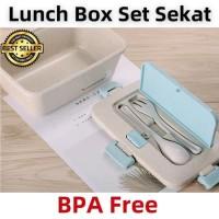 Kotak Makan Anti Tumpah Tingkat / Lunch Box Sekat 950ml BPA Free B526