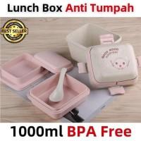 Kotak Makan / Lunch Box Anti Tumpah 1000ml BPA Free / Bento Box B531