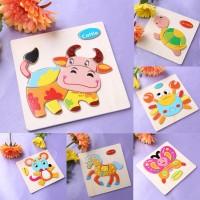 Baru (LOVE Baby) Puzzle Jigsaw Gambar Kartun Hewan