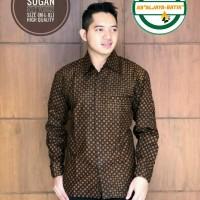 Truntum Sogan Kemeja Batik Solo Lengan Panjang Full Furing By Aljaya