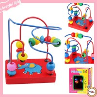 SALE Mainan Puzzle/Alur Kawat Labirin Manik Kayu Gambar Gajah untuk