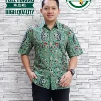 Bisono Ijo Kemeja Batik Solo Lengan Pendek Full Furing By Aljaya