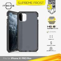 ITSKINS Shock Proof Case iPhone 11 Pro Max - Supreme Frost Grey Black