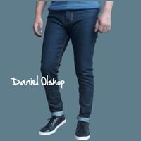 celana jeans pria murah model pensil warna blue black