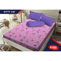 Sprei KINTAKUN D'LUXE - BANTAL 4 - KITTY CAT - 180x200 (King Size)