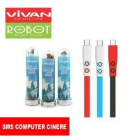 Kabel Charger VIVAN CTM100 2.4A 1m Mini Tube Data Cable Android Micro