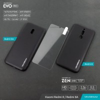 PAKET Tempered Glass + VEVORIUM EVO PRO Xiaomi Redmi 8 8A Soft Case - REDMI 8A