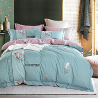 Sleep Buddy Set Sprei dan Bed Cover Hipster Cotton Sateen - Single Size