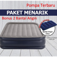 INTEX KASUR ANGIN - KASUR INTEX DURABEAM REST RAISED AIRBED - ORGINAL