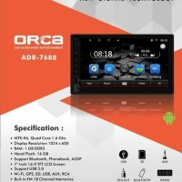 Orca ADR 7688 Tape Head Unit Double Din Android 7 inch Garansi Resmi