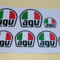 Decal stiker helm Logo agv