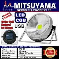 Lampu Solar Emergency LED COB 10W / Mitsuyama Lampu+Power Bank MS-504