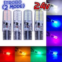 Lampu LED T10 24V Strobo 2 Mode Bus Truk T10 24 Volt Kedip