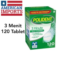 [USA] Polident 3 Minute Denture Cleanser - 120 Tablets