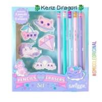 Paket Alat Tulis Pensil Penghapus Smiggle Pencil Eraser Gift Set