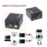 Digital audio to Analog Converter Optical Toslink to analog RCA