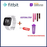 Fitbit Versa Smart Watch Heart Rate GPS Fitness Small Large Smartwatch - WhiteFreeStrap