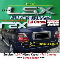 emblem tulisan logo lsx full chrome toyota kijang kapsul dll universal